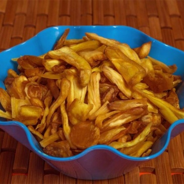 Healthy Jackfruit chips.. another healthy snack from South India