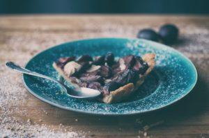 Tart and plum