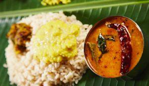 Puttu with curry